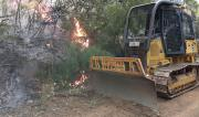 Forests NSW Dozer working containment lines